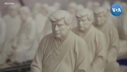 """Tượng """"Phật Trump"""" nhắc nhở cựu Tổng thống tĩnh tâm, buông bỏ"""