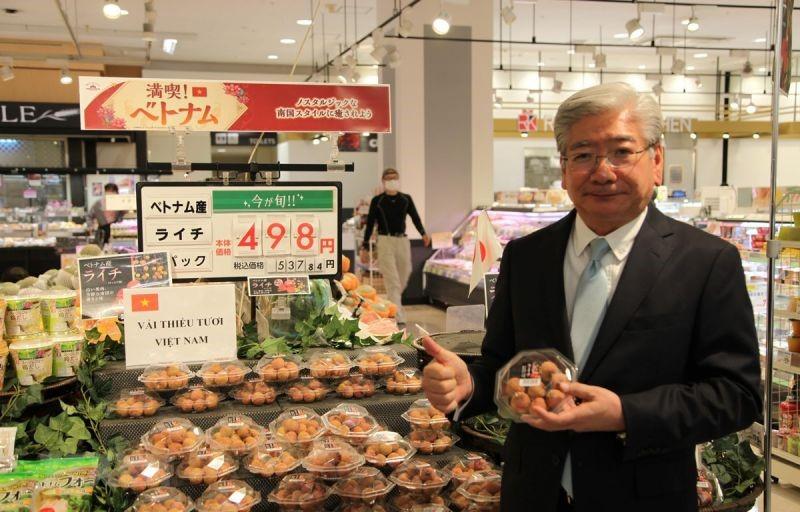 12 quả vải thiều giá 430.000 đồng tại Nhật Bản